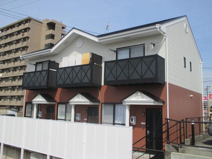 安城市K様アパート外壁・屋根塗装 |安城市、西尾市の塗り替え屋本舗