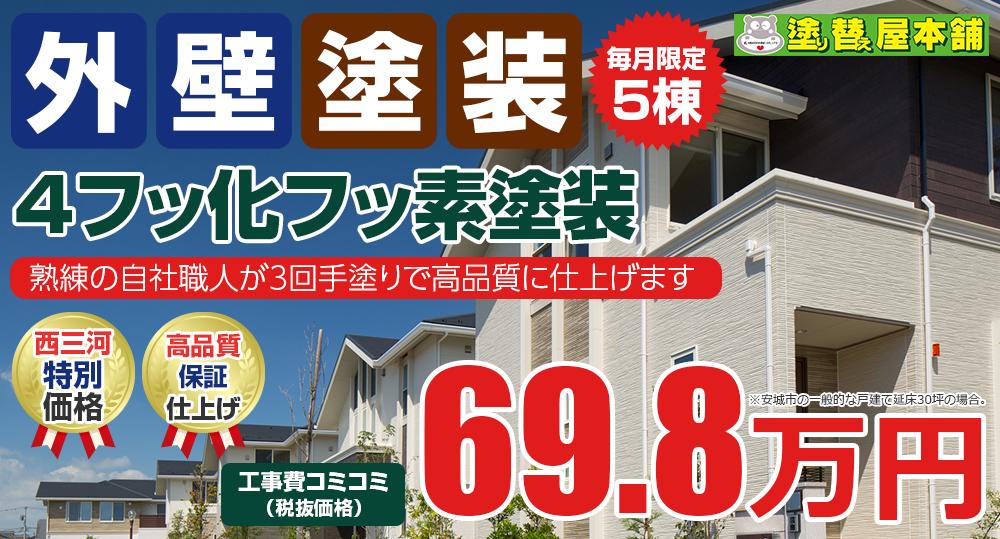 4フッ化フッ素塗装 69.8万円