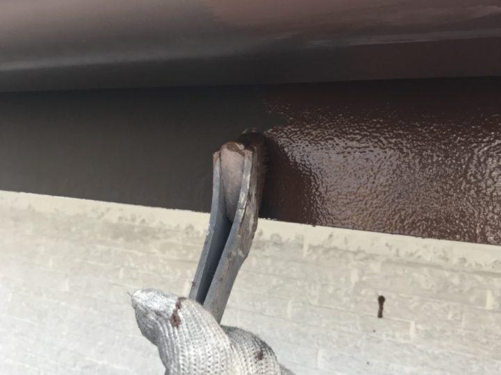 施工中 雨樋