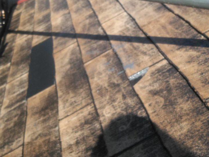水洗い後 屋根