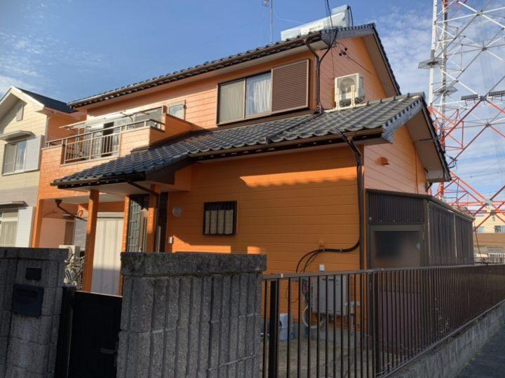 奥様こだわりの鮮やかなオレンジカラーの外壁! |安城市 Ⅿ様邸|安城市、西尾市の塗り替え屋本舗 380