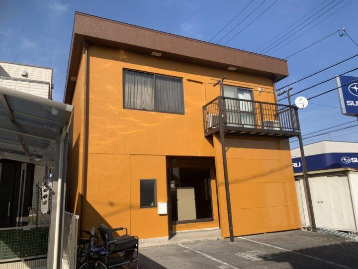 仕事場の外壁塗り替えリフォーム!オレンジ×ブラウンの外壁! |岡崎市 H様邸|安城市、西尾市の塗り替え屋本舗 403