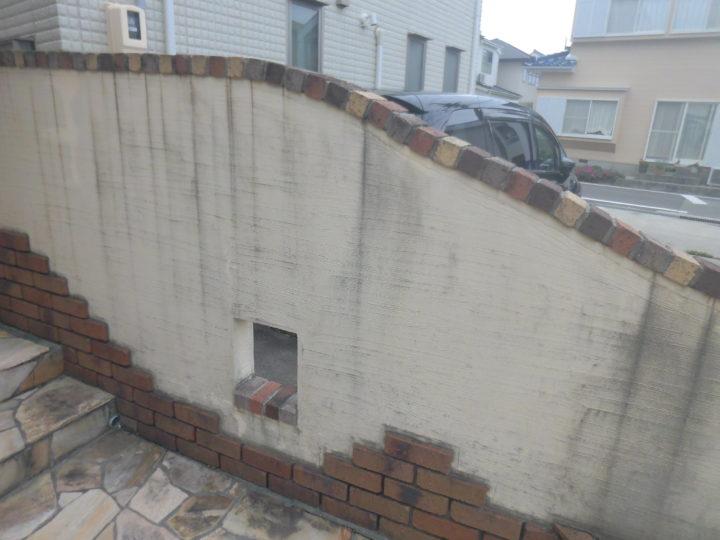 施工前 塀