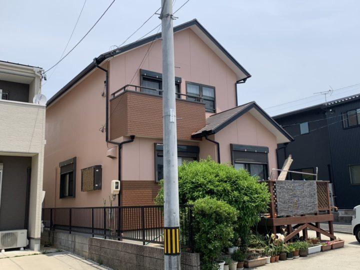 ピンクとブラウンの暖かみのある雰囲気の外壁! |安城市 K様邸|安城市、西尾市の塗り替え屋本舗 432