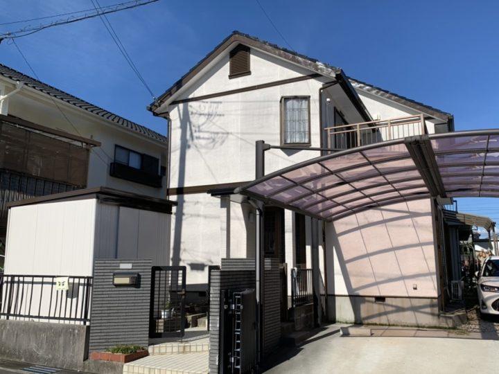 ホワイト系カラーとブラウンで落ち着いた外壁!! |安城市 Y様邸|安城市、西尾市の塗り替え屋本舗 466