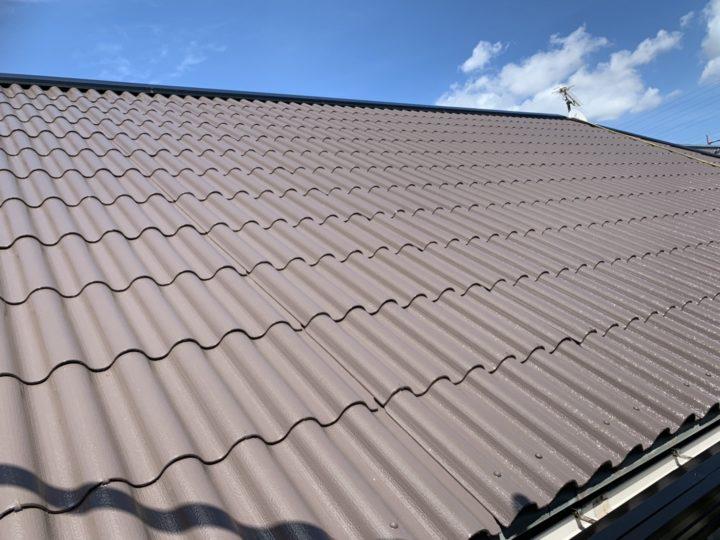 明るめブラウンのモニエル瓦の屋根塗装! |安城市 A様邸|安城市、西尾市の塗り替え屋本舗 464