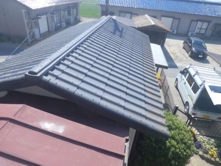 施工前 平屋屋根