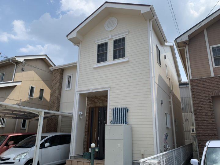 アイボリーの外壁とワインレッドの屋根がハイセンスなお住まい!! |安城市 T様邸|安城市、西尾市の塗り替え屋本舗 465