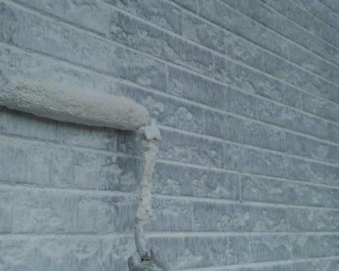 1F外壁 下塗り