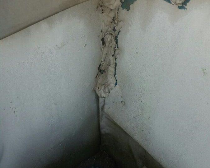 屋上防水 箱桶入隅現状