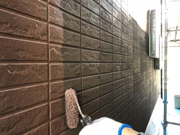 外壁中塗り 1階