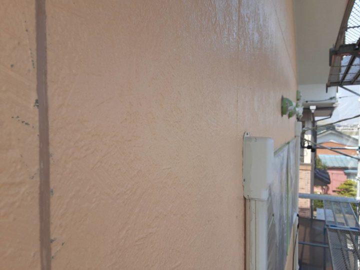 2階 外壁 下塗り完成