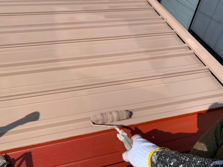 倉庫屋根 塗装