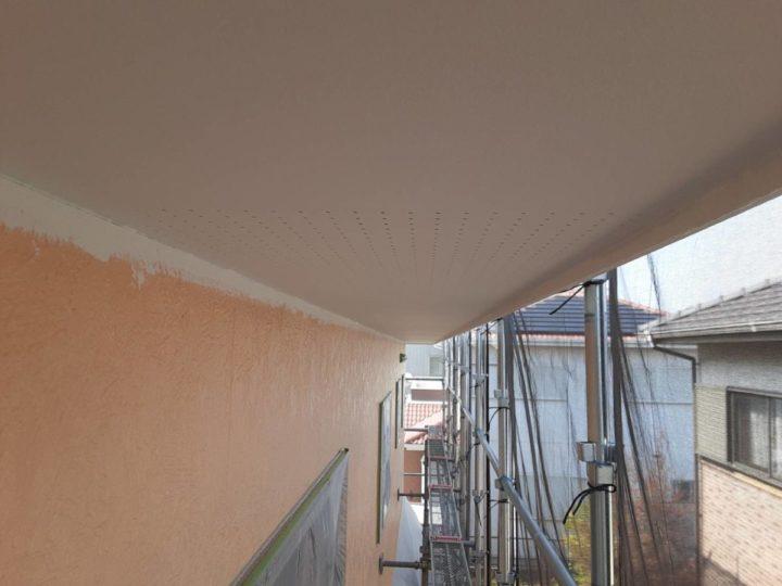 2階 軒天 上塗り完成