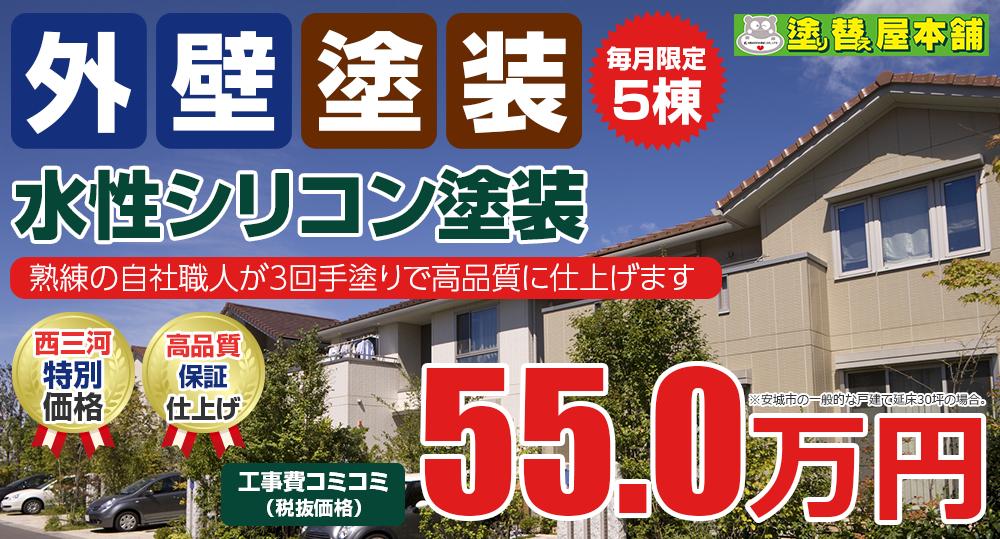 水性シリコン塗装 55.0万円