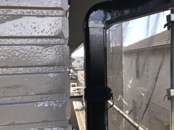 雨樋 上塗り