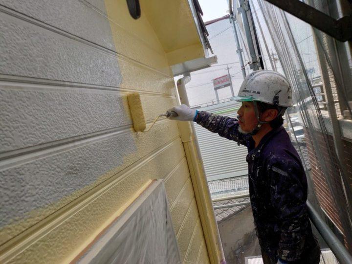 外壁中塗り:2F