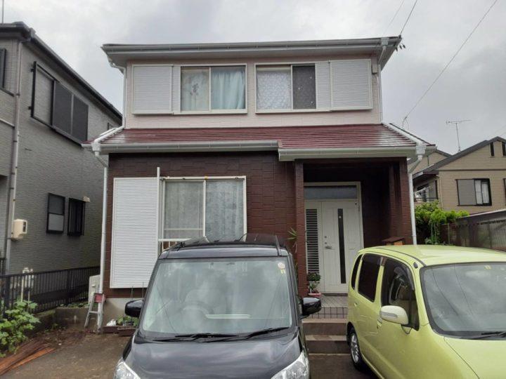 アイボリーとブラウンツートンの外壁とレッドの屋根! |知多市 T様邸|愛知県安城市、西尾市の塗り替え屋本舗 615