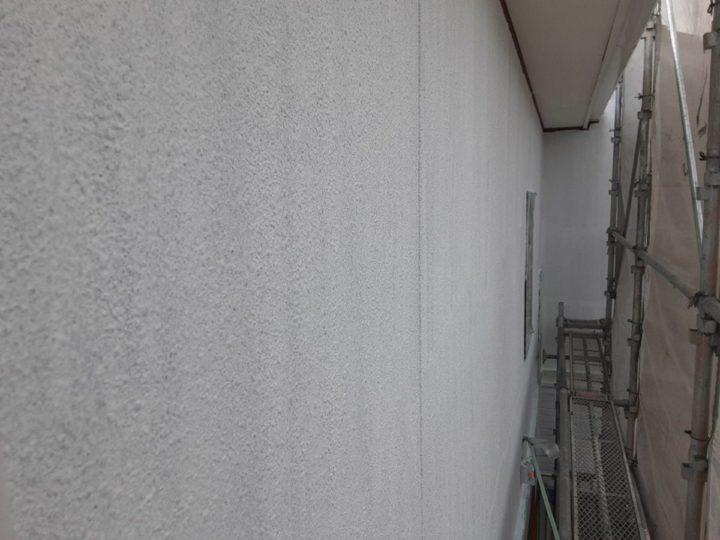 外壁下塗り完成