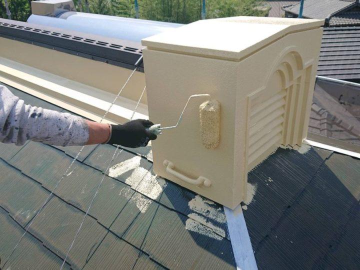 屋根喚起棟 上塗り