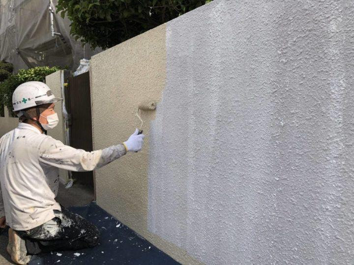 外塀 下塗り