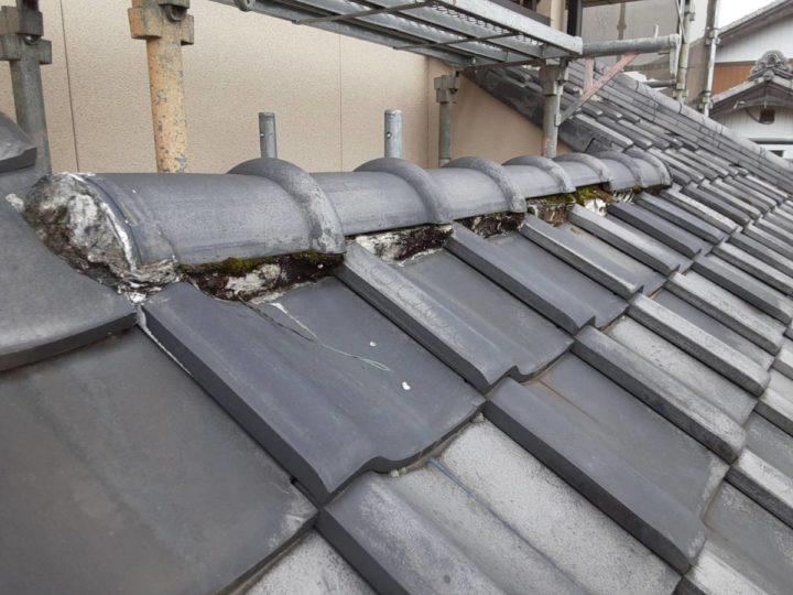 屋根漆喰 現状