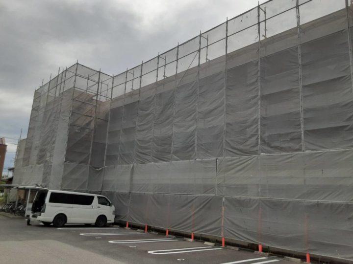 足場架設・飛散防止ネット設置