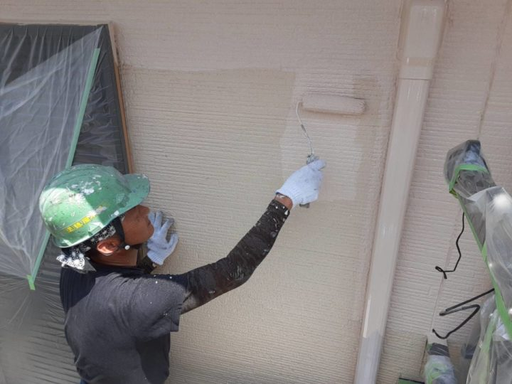 外壁 中塗り(2F)