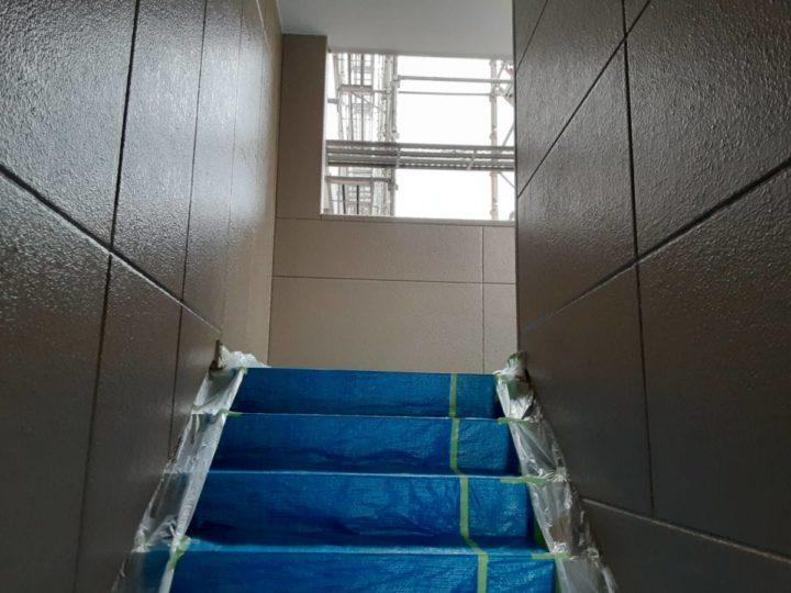 外壁(階段部分)