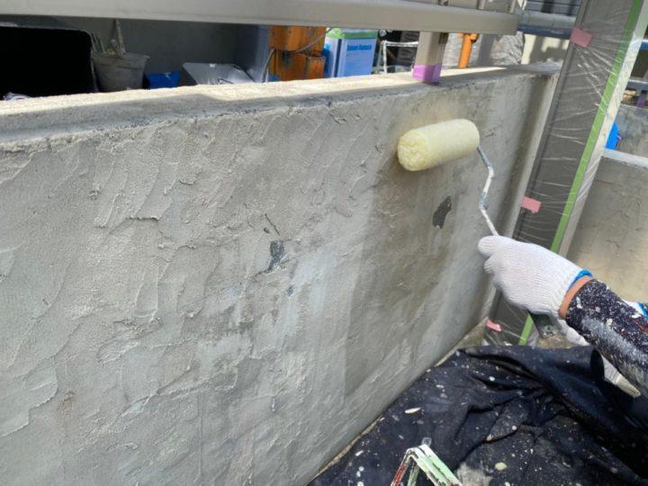 外塀下塗り