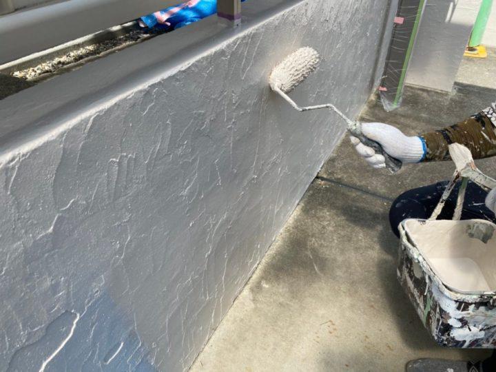 外塀上塗り