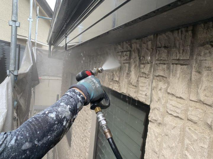洗浄作業 外壁