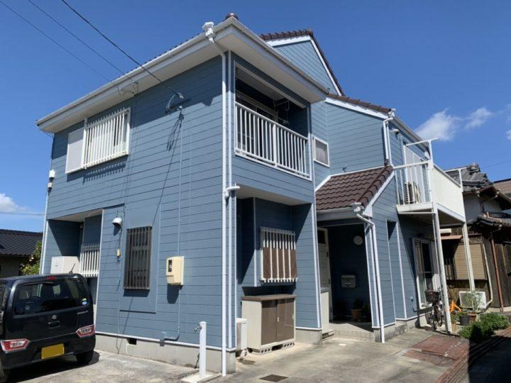 ライトブルーの外壁とブラウンの屋根で爽やかな印象に! |安城市 M様邸|安城市、西尾市の塗り替え屋本舗 626