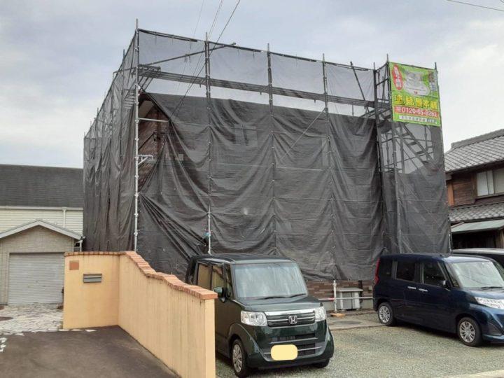 足場架設・養生ネット設置