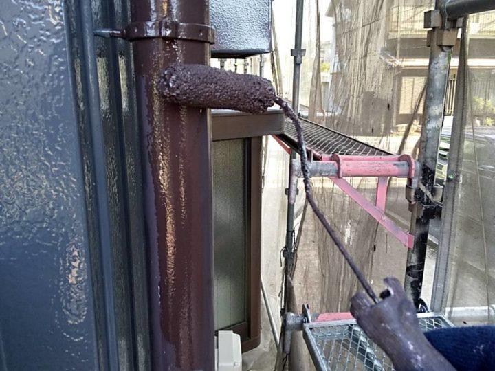 タテ樋塗装