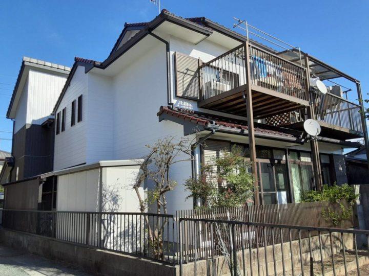 既存色塗装 真っ白な外壁に甦りました❣|愛知県蒲郡市N様邸|愛知県西尾市・安城市の塗り替え屋本舗 愛知 662 施工データ  完工