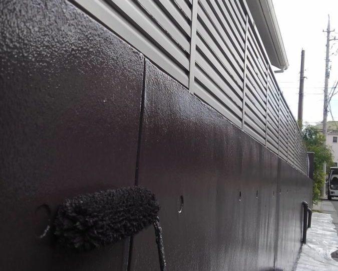 外塀 中塗り・上塗り