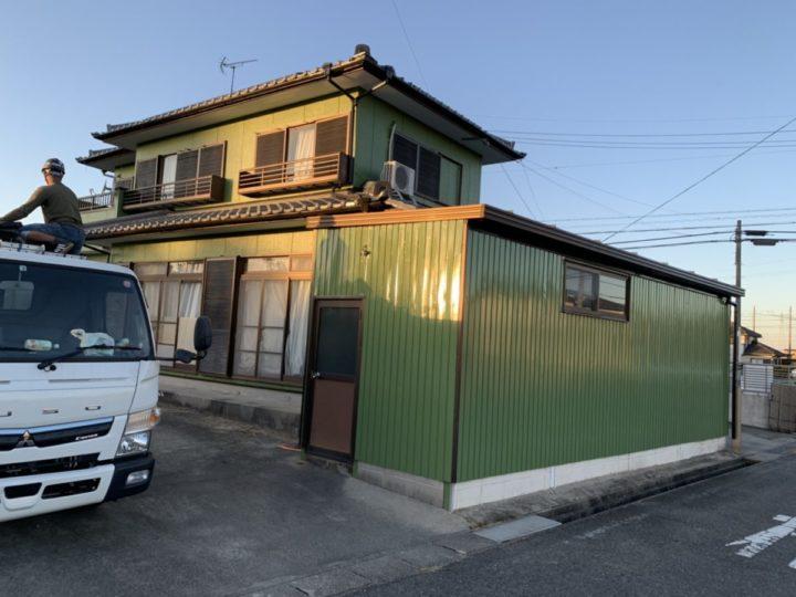 外壁と倉庫塗装!グリーンで合わせて統一感UP! |愛知県安城市 M様邸|愛知県安城市、西尾市の塗り替え屋本舗 669