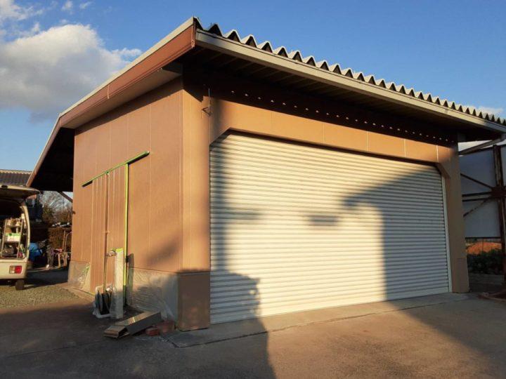 車庫外壁上塗り 完成