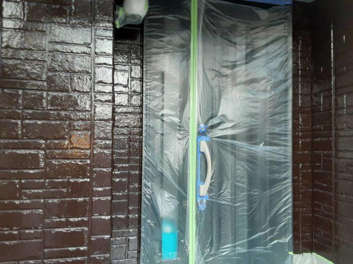 1階外壁上塗り完成