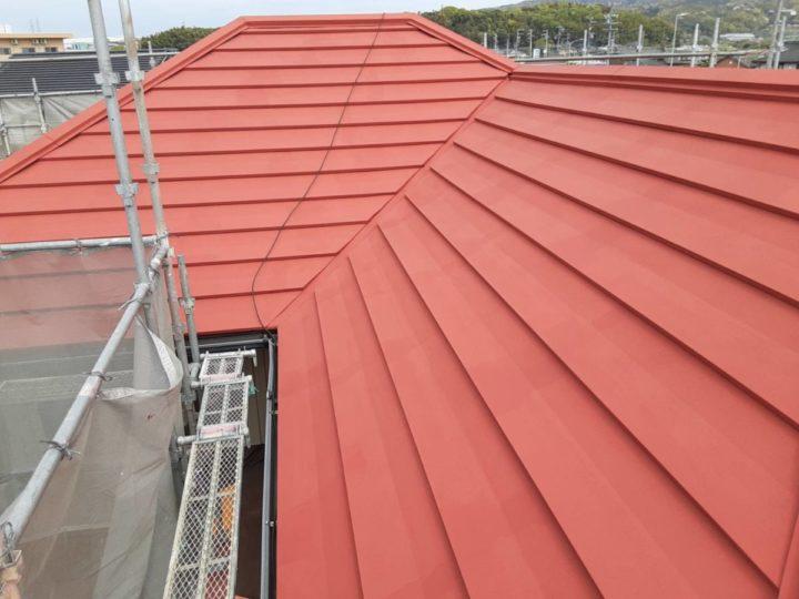 母屋屋根塗装 ✨下塗り完成✨