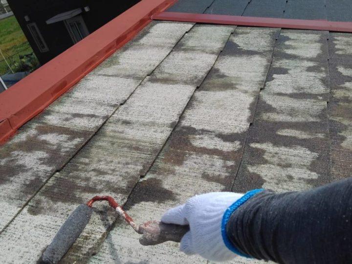 横屋屋根塗装 下塗り
