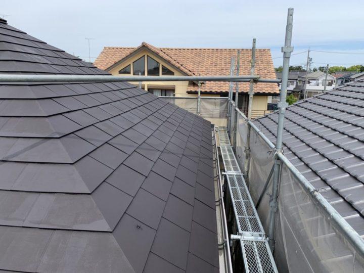 屋根塗装 下塗り完成✨