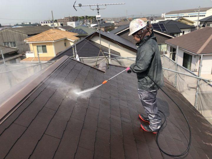 洗浄作業 屋根