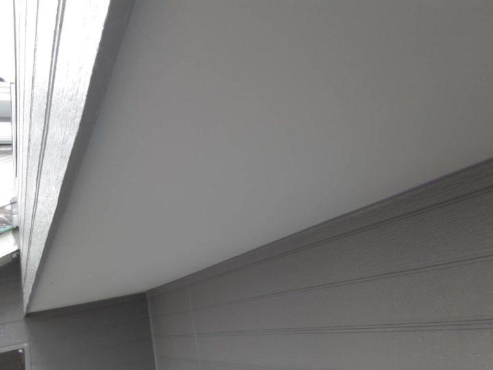 軒天 上塗り完成✨