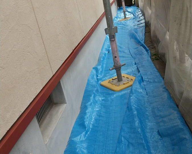 土台水切り 下塗り完成