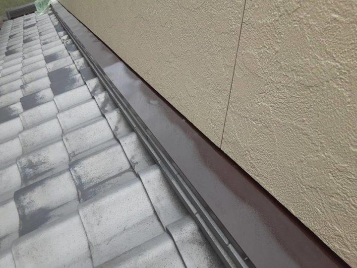 雨押さえ 上塗り完成✨