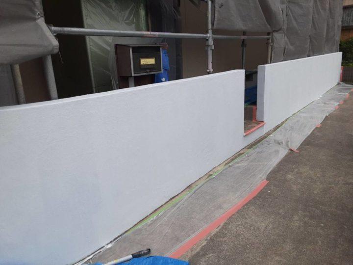 外塀 下塗り完成