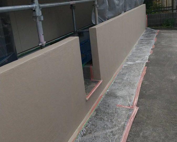 外塀 上塗り完成✨
