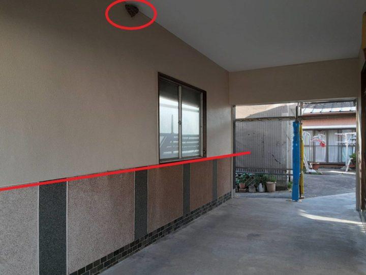 通路兼車庫 軒天・外壁塗装完成✨